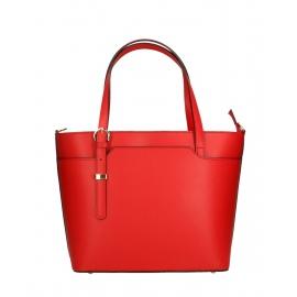 Kožená červená veľká taška cez rameno mirabelle