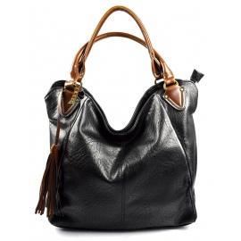 netradičná čierna shopper taška different two ef491f54a80