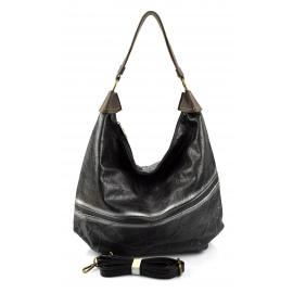 Elegantní opravdu velká černá volnočasová kabelka serena