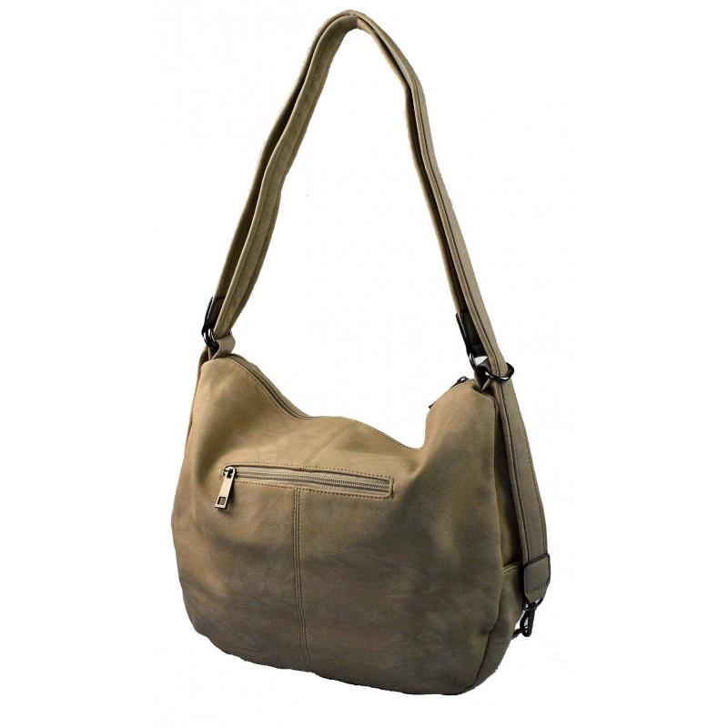 ... Praktická taupe béžová kabelka a batoh v jednom Marry two ... abac755cc57