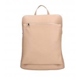 Praktický růžový kožený větší batůžek aveline