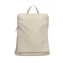 Praktický béžový kožený batôžtek a kabelka 2v1 Aveline