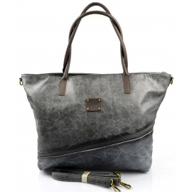 netradičná velká sivá kabelka na rameno nova