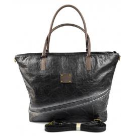 netradičná velká čierná kabelka na rameno nova