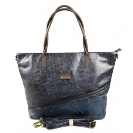 netradičná velká modrá kabelka na rameno nova