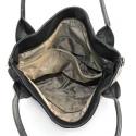 Moderná štvorfarebná čierná kabelka Rimini winter