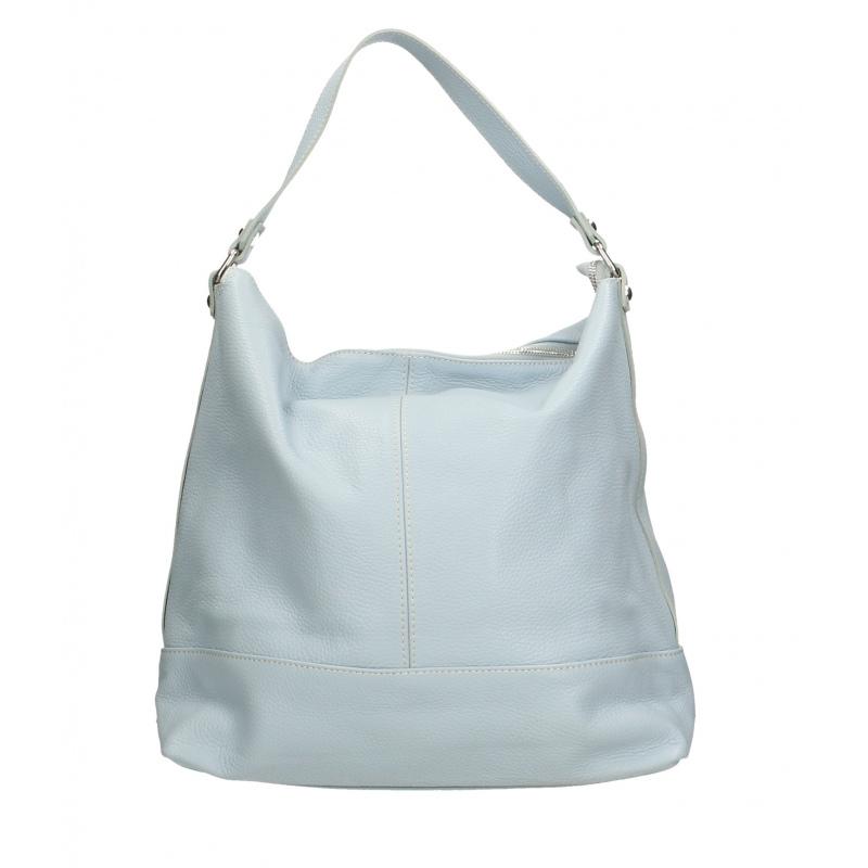 fdf789bc7521 Kožená luxusní světle modrá kabelka přes rameno laurel - KabelkyZoSvěta