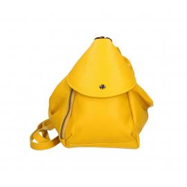 Praktický žltý kožený menšie batůžek alexis