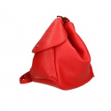 Praktický luxusny béžový taupe kožený menšie batůžek alexis