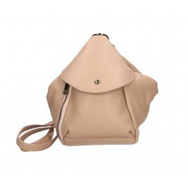 Praktický luxusny růžový kožený menšie batůžek alexis