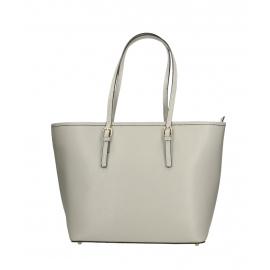 Kožená luxusná veľká sivá l kabelka cez rameno Alisane