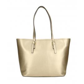 Kožená luxusná velká zlatá kabelka cez rameno alisane