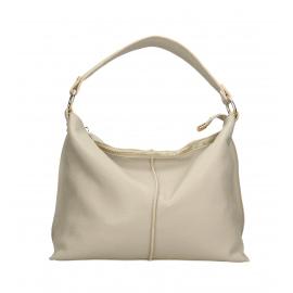 Kožená sivá velká taška na rameno clarita