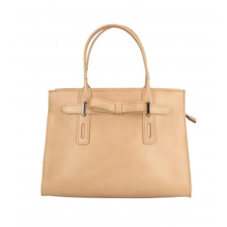Kožená menšia béžová kabelka do ruky Joley
