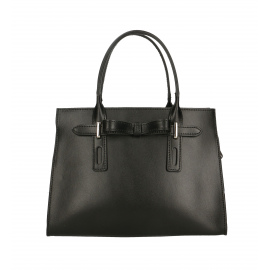 Kožená menšia čierna kabelka do ruky Joley