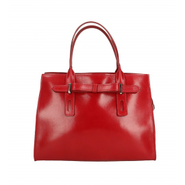 Kožená menšia červená kabelka do ruky Joley