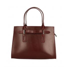 Kožená menšia bordó kabelka do ruky Joley