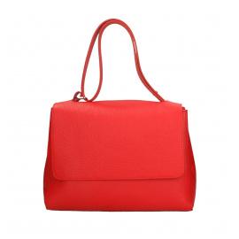 Kožená syto červená kabelka dixi