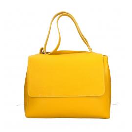 Kožená žltá kabelka dixi