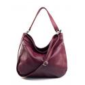 Kožená fialová až purpurová kabelka přes rameno devona