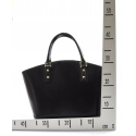 Kožená luxusná veľká tmavo hnedá kabelka Clasic