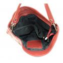 Kožená červená bordó kabelka přes rameno devona