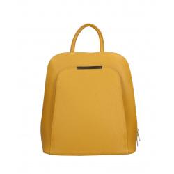 Moderný horčicovo žltý kožený batůžek Aveline Two