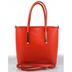Kožená červená veľká kabelka do ruky cherril