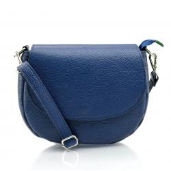 Kožená tmavo modrá crossbody kabelka Lexie