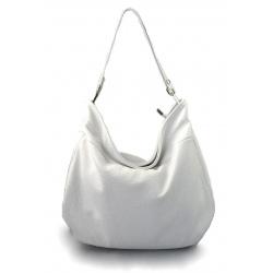 Kožená biela kabelka cez rameno devona