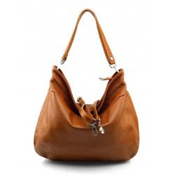 Kožená hneda brown kabelka cez rameno devona