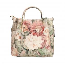 Kožená farebná kabelka do ruky s motivom kvetin Italien Summer