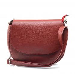 Kožená červená bordó crossbody kabelka Lexie