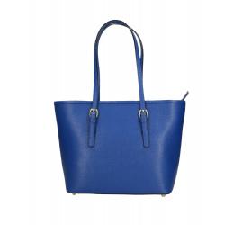 Menšia luxusná sýto modrá kožená kabelka cez rameno Alisane Little