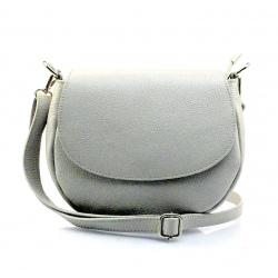 Kožená svetlo sivá crossbody kabelka Lexie
