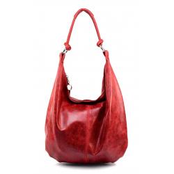 Kožená červená taška cez rameno relic