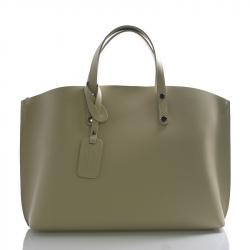 Kožená béžová veľká taška Tanie 2v1