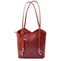 Kožená luxusná červená bordó crossbody kabelka Grand Royal