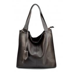 Kožená tmavo hnedá kabelka cez rameno Darci Little