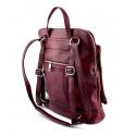 Väčšia moderná vínová bordó kožená kabelka a batoh 2v1 Aveline 2v1