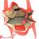 Väčšia moderná sýto červená kožená kabelka cez rameno Darci Little