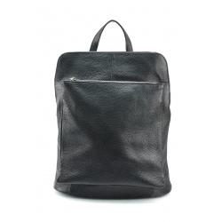 Praktický čierny kožený batôžtek a kabelka 2v1 Aveline