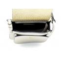 Väčšia luxusná hnedá taupe kožená crossbody kabelka Bella