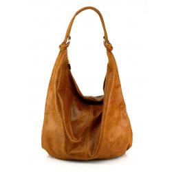Kožená hnedá camel taška cez rameno relic