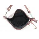 Väčšia luxusná vínová bordó kožená kabelka cez rameno Denice